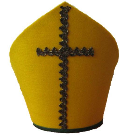Bischofsmütze/Mitra  Weihnachten steht mal wieder vor der Tür!  Hat Ihr Nikolaus auch eine passende Mitra? Wenn nicht, bei uns werden diese in Handarbeit gefertigt.